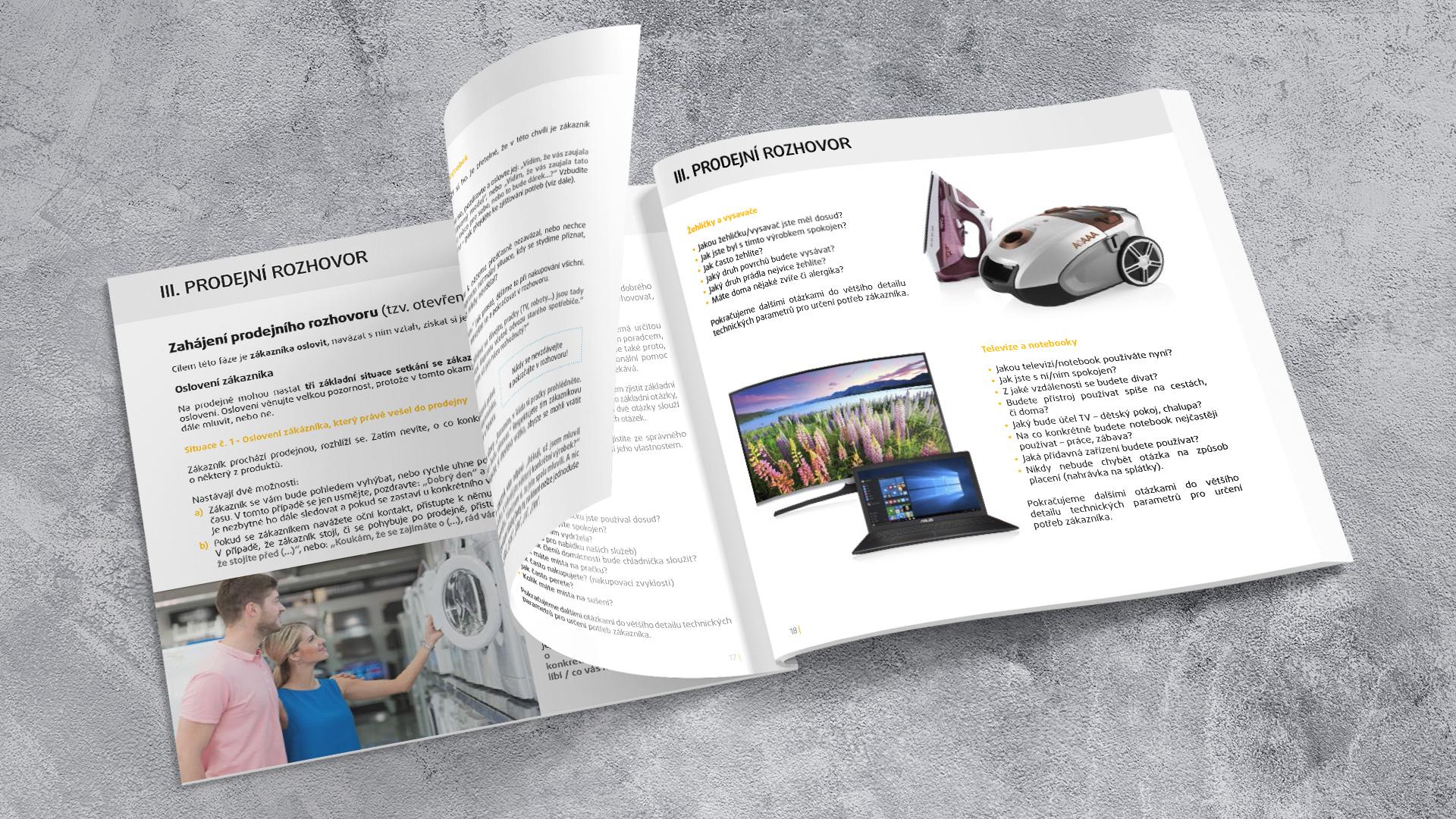 WhiteDesigns.cz - Sazba manuálu pro prodavače