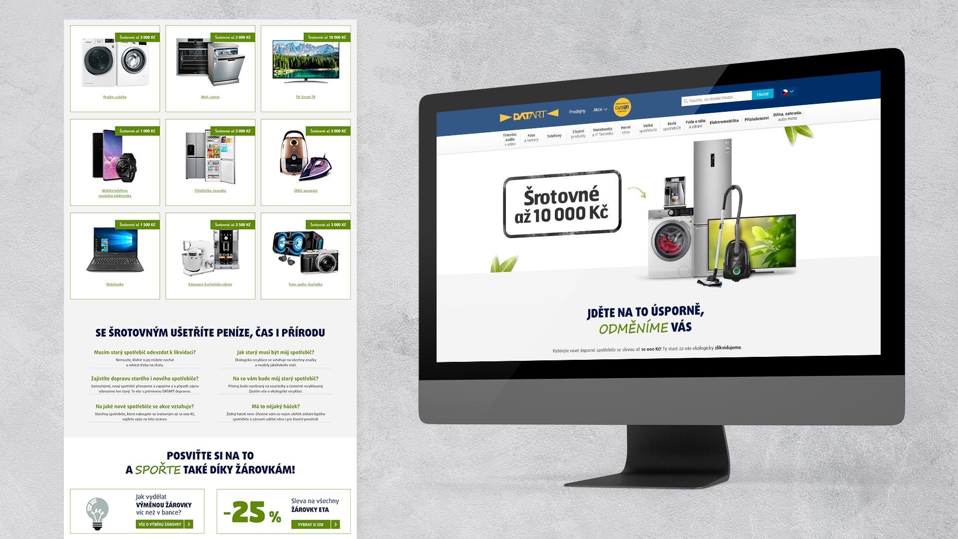 WhiteDesigns.cz - Grafický návrh landing page pro DATART.cz