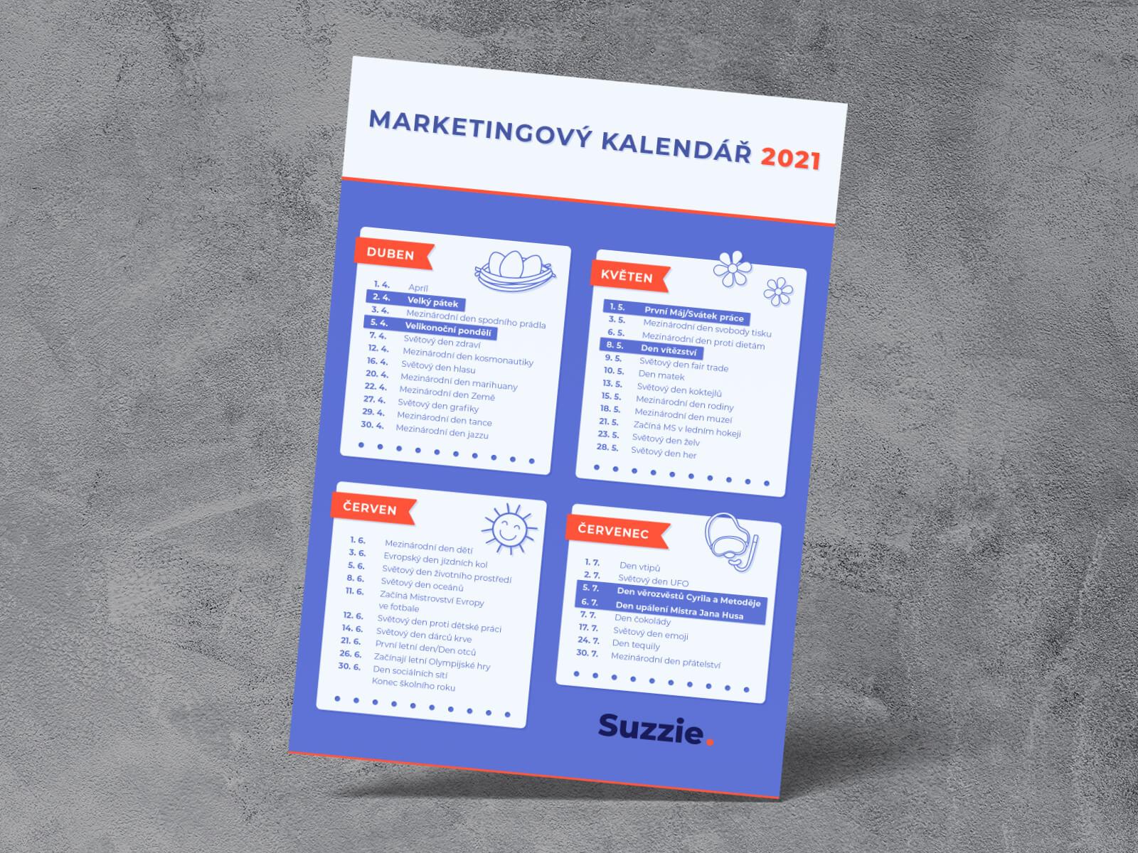 WhiteDesigns.cz - Grafický návrh marketingového kalendáře pro suzzie.cz
